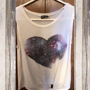 Galaxy Heart Tank Top